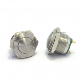 16mm push button - stainless steel - domed