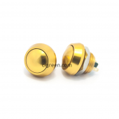 12mm push button - gold - domed