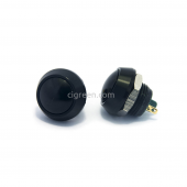 12mm push button - black - domed